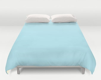 Diamond Blue Duvet Cover - Twin, King Queen Size Duvet -  Light Blue Blanket - Blue Duvet - Pastel Bedding