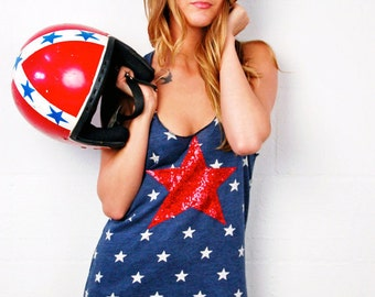 SEQUIN 4th of July Shirt. 4th of July Tank Tops. Stars and Stripes. American Flag Shirt. Fourth. Red White and Blue. Sequin Star Tank Top
