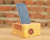 iPhone 6 station Wooden iPhone stand Pine wood iPhone holder Handcrafted iPhone 6 dock