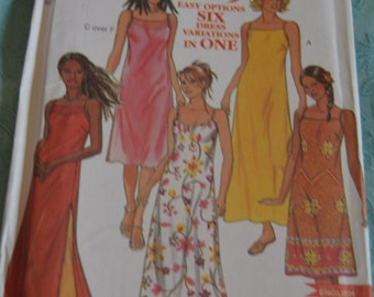 New Look 6971 Misses Dress Sewing Pattern - UNCUT - Sizes 8 - 18