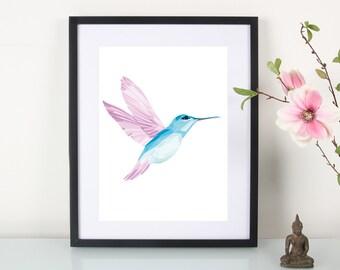 """Artprint, mosaic Hummingbird"""