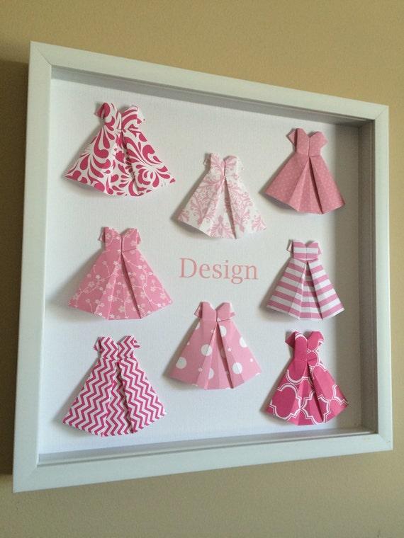 Paper Dress 3d Paper Art Origami Nursery Decor Origami