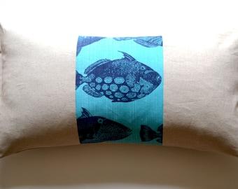 Fish Print Pillow Cover 12 x 24