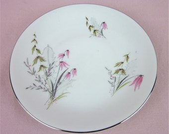 Vintage Bread and Butter Plate, Bavaria Germany Fine China, Royal Duchess, Mountain Bell