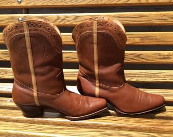 Vintage 1950s Cowboy Boots Size 7