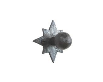 HK5 spanish revival hardware iron cabinet knob pull