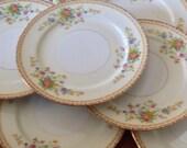 "National China (Japan) ""Patricia"" - Set of Seven Dessert Bread Wedding Cake Plates"
