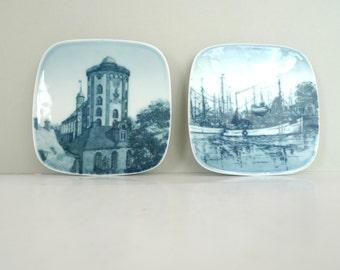 Mini wall plates - Bing Grondahl Denmark Kjeld Bonfils Collective Plates