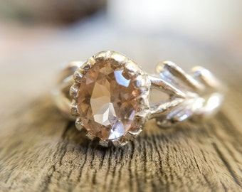 Heliodor Ring , Golden Beryl Ring , Yellow Beryl Ring , Heliodor Jewelry, Gold Beryl Ring White Gold Heliodor Ring