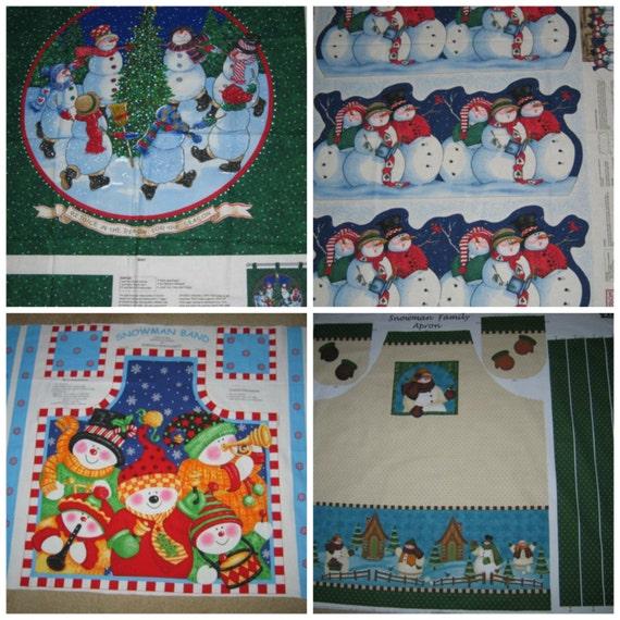 Snowman fabric panels daisy kingdom christmas by