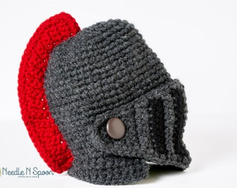 Crochet knight helmet, knight hat, crochet helmet, knight helmet, knight costume, Halloween