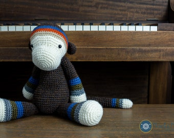 Monkey crochet plush, amigurumi monkey, monkey softie, kid toy, baby room decoration