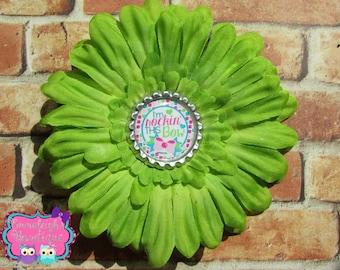 Im Rocking This Bow Hair Bloom Apple Green Hair Bow Daisy Flower Sayings Flower Hair Bow