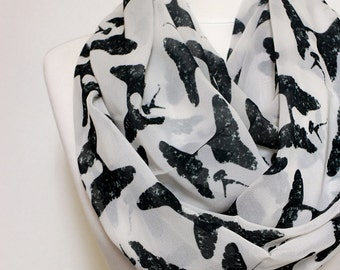 Boston Terrier Infinity scarf, Loop scarf, Circle scarf, scarves, shawls, spring - fall - winter - summer fashion