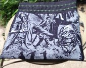 Knitting Project Bag or Gift Bag with Zombie Fabric