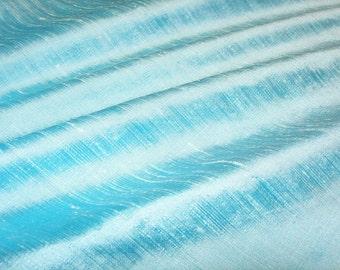 "Antique Blue dupioni silk - 54"" wide"