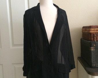 Vintage Rachel Roy sheer blazer