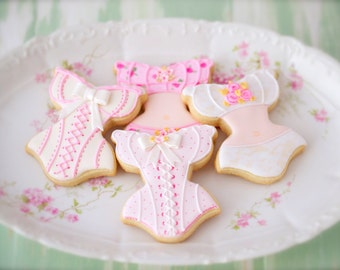 12 Vegan Corset and Lingerie Sugar Cookies