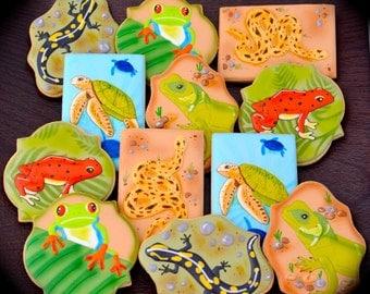 12 Vegan Reptile Sugar Cookies
