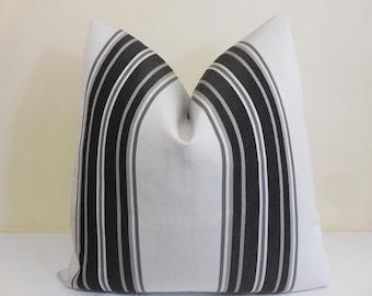 Gray- Charcoal Sunbrella pillow Cover -Sunbrella fabric -Grey Outdoor Pilow-  Sunbrella Pillow