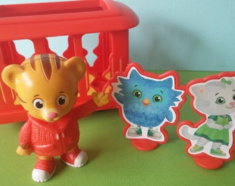Daniel Tiger Cake Topper PBS Kids includes Trolley Katerina Kitty O the Owl Tiger's Neighborhood Mr. Rogers cupcake topper pick birthday