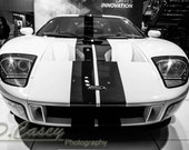 Ford GT,Photography, fine art Photography, Black and white, wall art, home décor, car photography, vintage, truck, auto, gift, print