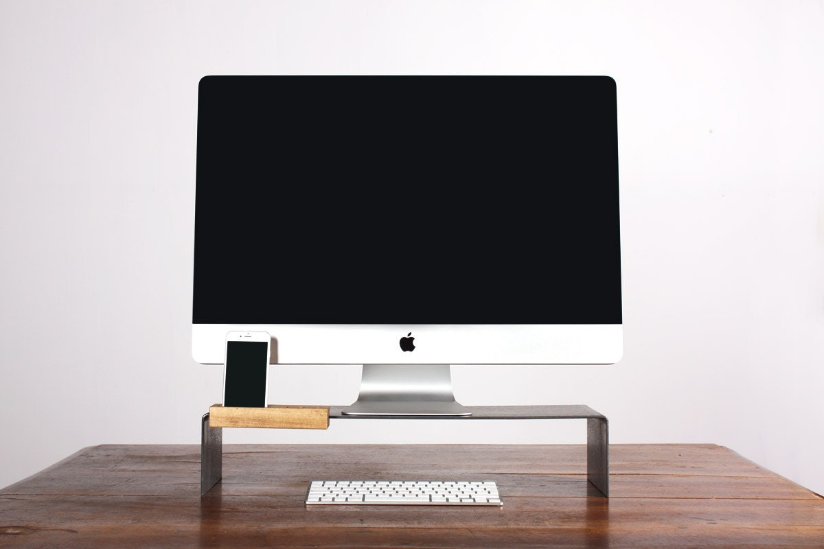 Monitor All In One Pc Imac Stand Desk Rise With Phone