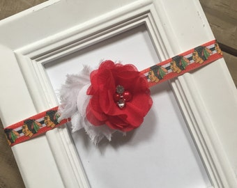 Chicago Blackhawks Stanley Cup Shabby Chic Headband