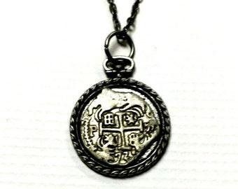 Atocha Coin Necklace Replica Spanish Galleon Treasure Handmade Gift