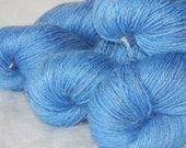 NEW Periwinkle on Mad Linen and Silk 50/25/25 Alpaca/Silk/Linen premium fingering yarn