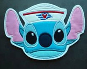 Sailor Stitch Cruise Patch ~ DCL Embroidered Applique ~ Iron On ~ No Sew ~ Fish Extender