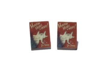 Tiny Book Earrings - Horton Hears a Who
