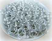 7mm SPLIT Rings - Silver Split Rings - Qty. 12 grams/100-115 pcs. (7mm/SPLIT-S)
