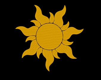 Mini Sun and 6 Additional Sizes!! Embroidery Machine Design