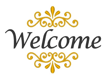 Welcome Embroidery Machine Design