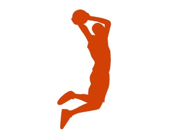 Basketball Slam Dunk Embroidery Machine Design