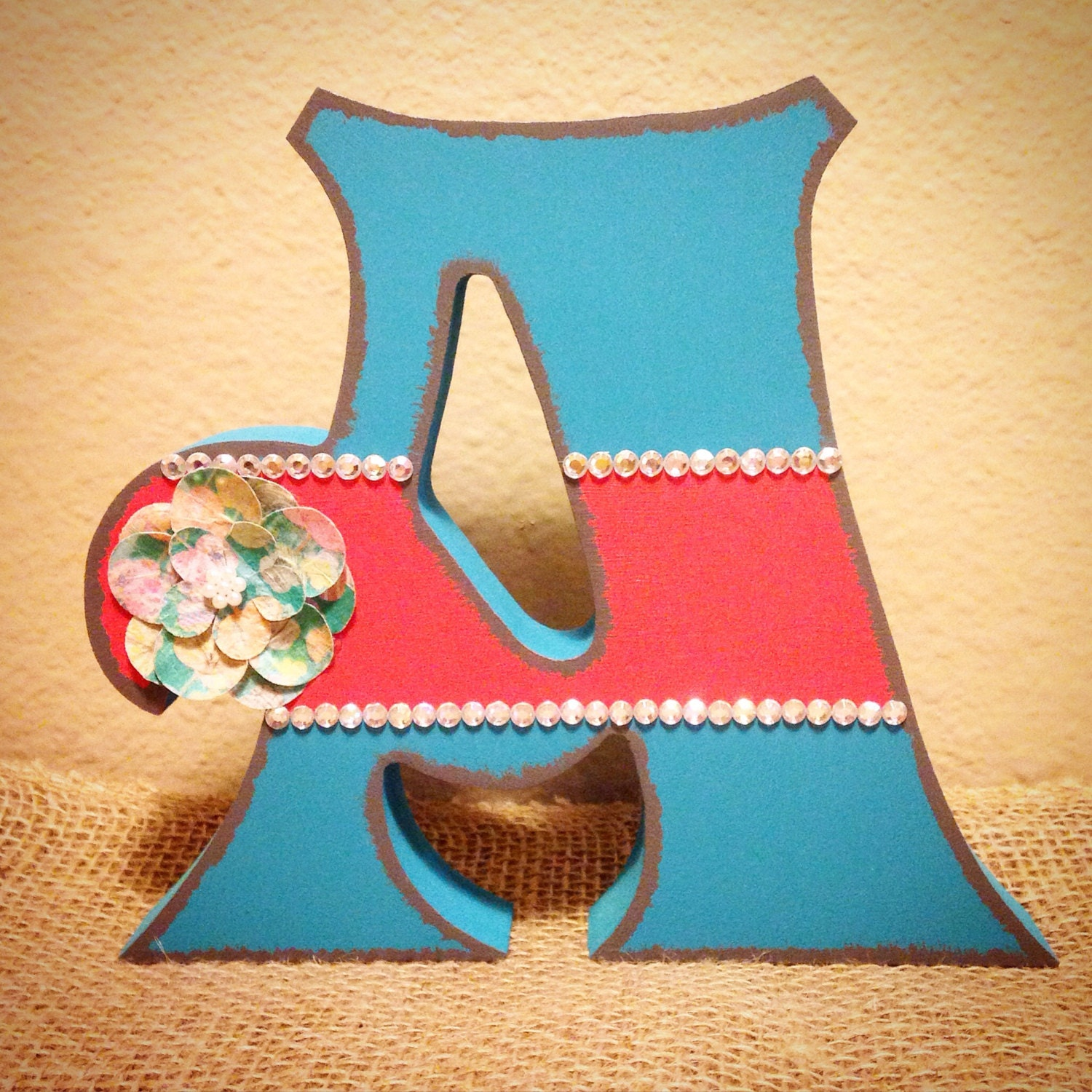 Superb img of Free Standing Wood Letters Girls Nursery Shabby by TheCrownedLily with #B97312 color and 1500x1500 pixels