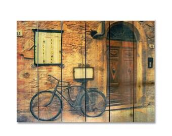 33x24 Italian Restaurant on Cedar, Hang In or Out. Warm Wall Decor (IO3324)