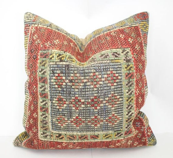 Large Decorative Pillows Floor : Decorative Kilim Floor Pillow Large Kilim by SultanaDecorPillows