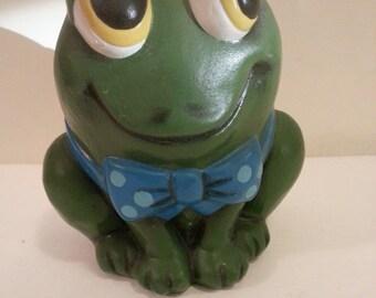 Ceramic Frog Coin Bank