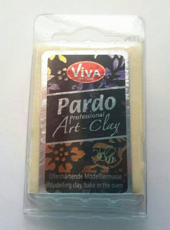 Pardo Translucent -YELLOW Professional Art Clay by Viva Decor - make beautiful faux beach glass and more