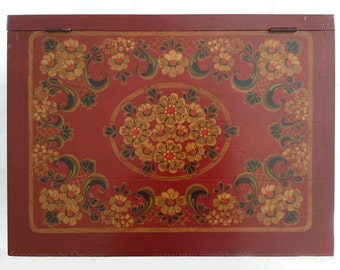 Large Hand Painted Wooden Box