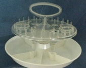 Vintage Clear Sewing Supplies Carousel