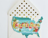 USA Greetings Card