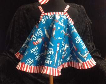 Girls pinafore set...DR. SEUSS BABY pinafore set, ruffle diaper cover, girls pinafore set