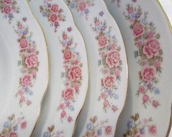 Vintage Remington Fine China by Red Sea Large Rim Soup / Salad Bowls - Set of 4