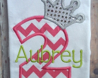 Personalized Princess Birthday Shirt For Girls | First Birthday Shirt