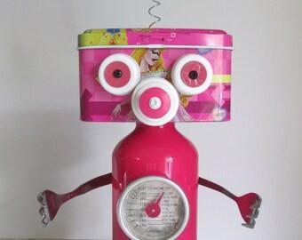 MR. PINK- Found object robot sculpture~assemblage