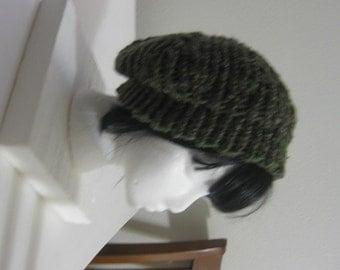 Green Hand Knit Beret