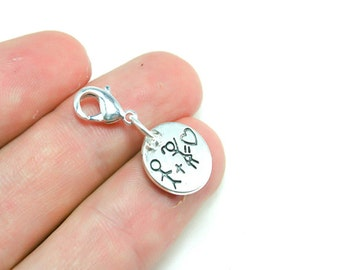 Cute Relationship Charm. Love You Charm for Couples. Couples Keychain. SCC359